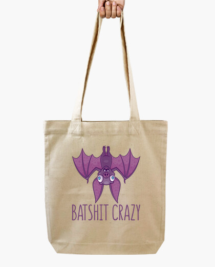 Batshit crazy wacky cartoon bat bag