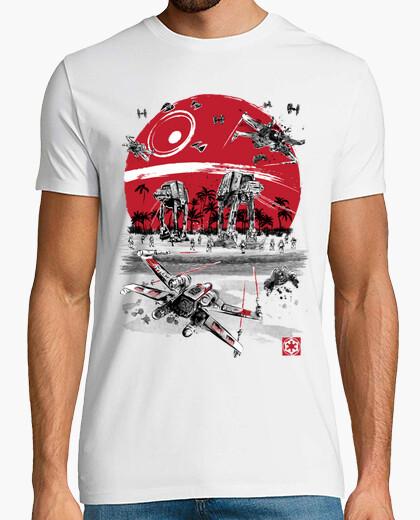 T-shirt Battaglia in  spiaggia