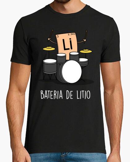 T-shirt batteria al litio nera