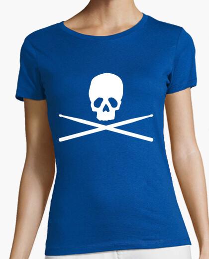 Tee-shirt Batterie Crâne Blanc