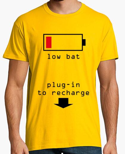 Tee shirt batterie faible shirt jaune