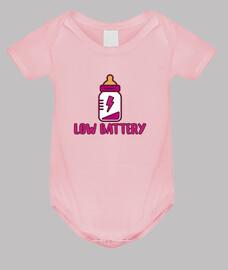 batterie faible! corps bébé, rose