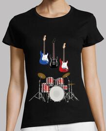batterie musicale avec guitare