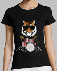 batterie musicale avec tigre