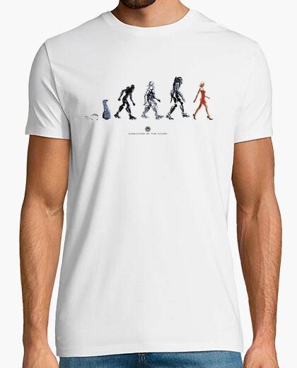 Camiseta BATTLESTAR GALACTICA cylon evolution