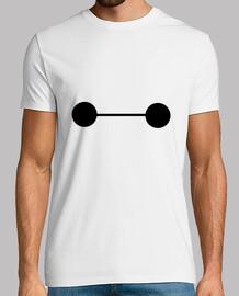 BAYMAX, camiseta disney de manga corta, blanco, calidad extra