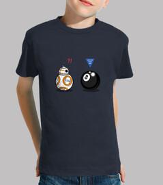 bb8 child meets 8 ball, short sleeve, navy