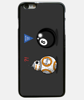 bb8 incontra otto ball cover iphone 6 plus, nera
