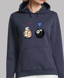 bb8 incontra otto ball donna jersey con cappuccio della marina