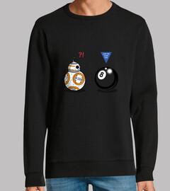 bb8 man meets 8 ball, sweatshirt, graphite gray