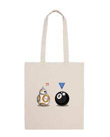 BB8 meets 8 Ball Bolsa tela 100 algodón