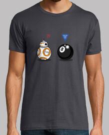 BB8 meets 8 Ball Hombre, manga corta, gris ratón, calidad extra