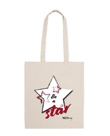 Be a star bolsa de tela