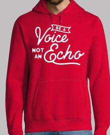 Be a voice not an echo Hombre, sudadera, gris grafito