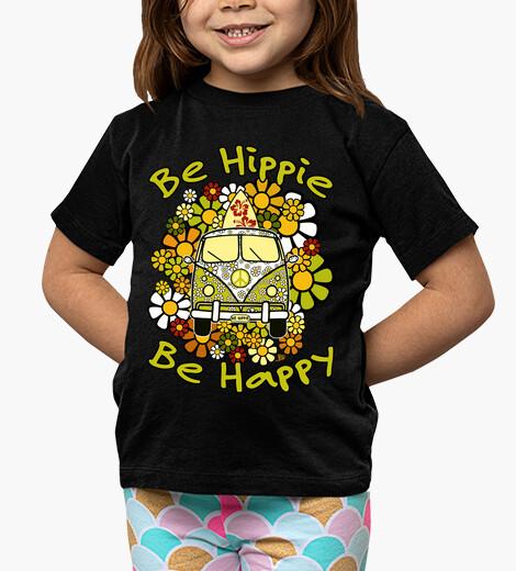 Be hippie be happy children's clothes