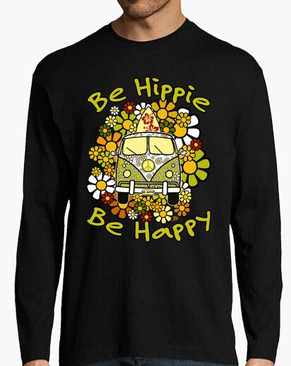 Camiseta Be Hippie Be Happy