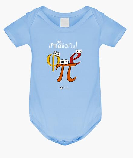 Ropa infantil Be irrational π φ e (fondos oscuros)