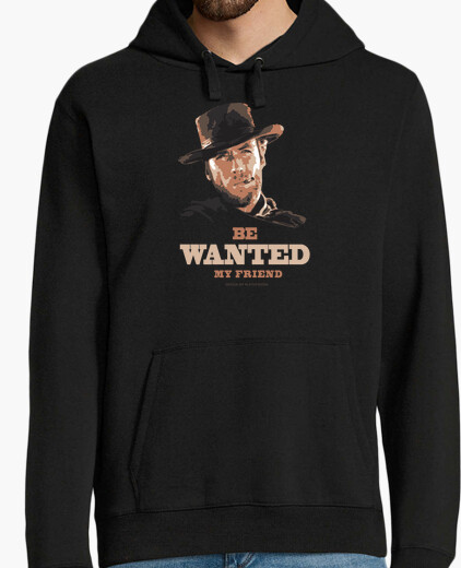 Be Wanted My Friend -Hombre, jersey con capucha, negro