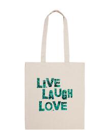 beach bag - in diretta risata amore - turchese