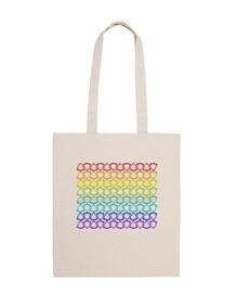 beach bag rainbow pattern