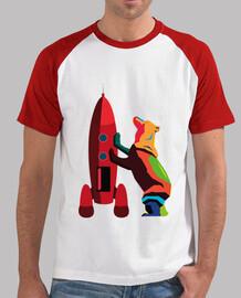 Bear across the Sky hombre, estilo béisbol, blanca y roja