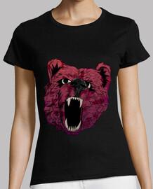 bear t-shirt femme rugissement
