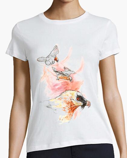 Camiseta Bearded vulture blanca chica
