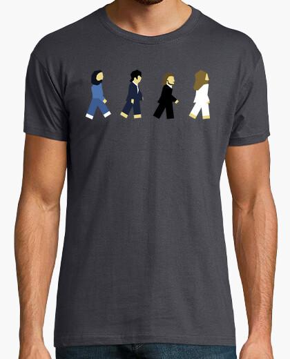 T-shirt beatles minimalista