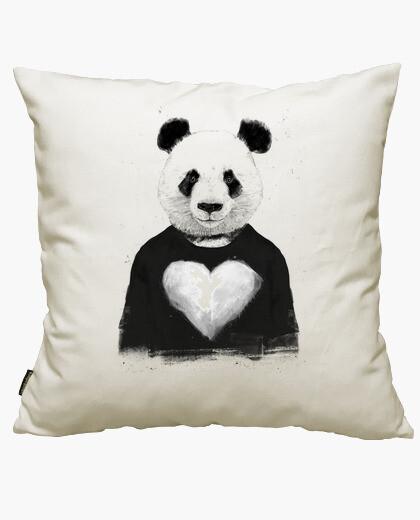 Housse de coussin beau panda