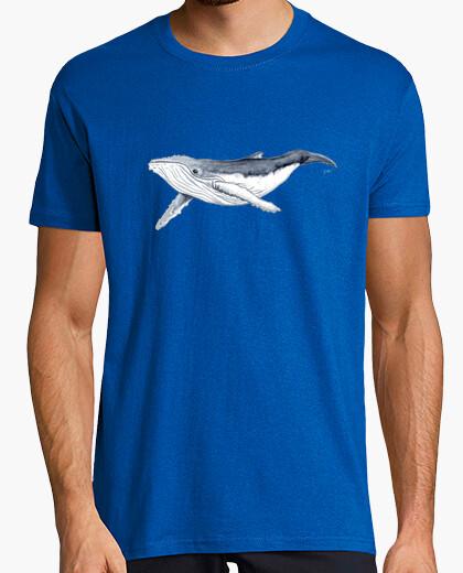 Tee-shirt bébé baleine à bosse - homme, manches courtes, bleu royal, qualité extra