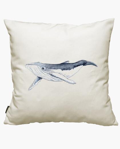 Housse de coussin bébé baleine yubarta