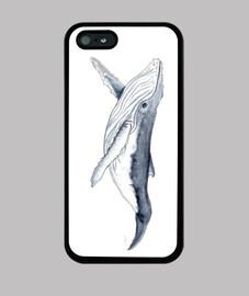 Bebe ballena yubarta - Funda iPhone 5 / 5s, negra