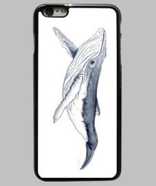 Bebe ballena yubarta - Funda iPhone 6 Plus, negra