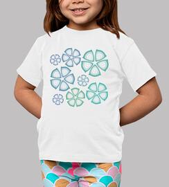 bebé camisa de flores azules