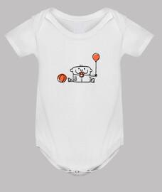 Bebé con globo y pelota