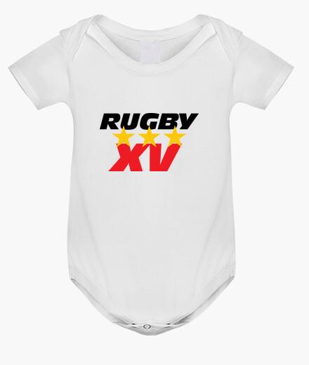 Ropa infantil bebé de rugby mono, blanco