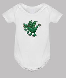 bebé dragón verde
