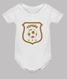 bebé mono de fútbol - españa