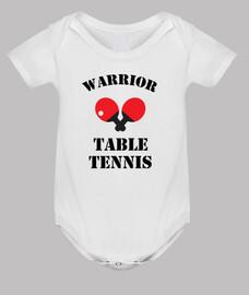 bebé mono mesa de tenis, blanco
