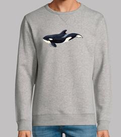 Bebe orca (Orcinus orca)