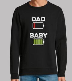 bébé papa, couleur, noir