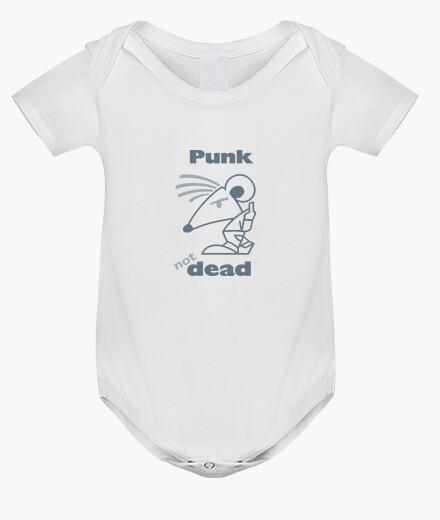 Ropa infantil bebé punk no muerto gris por stef