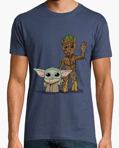 Camiseta Bebé Yoda Groot, Hombre