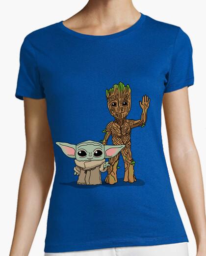 Camiseta Bebé Yoda Groot, Mujer