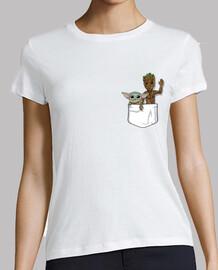 Bebé Yoda Groot Pocket, Mujer