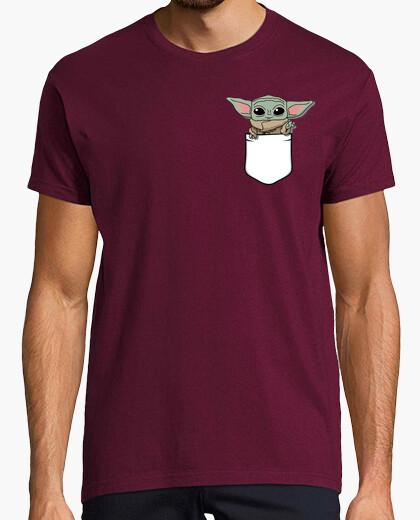 Camiseta Bebé Yoda, Hombre