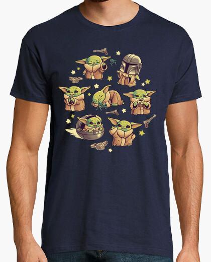 T-shirt bebè yoda mandalorian carino bambino kawaii
