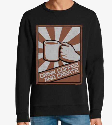 Jersey beber café y crear