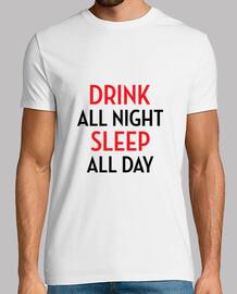 beber toda la noche de sueño todo el dí