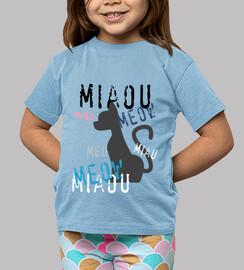bébés pastel  tee shirt  bleue - design miaou